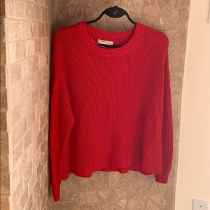 NWOT - Red Pull&Bear Knit Sweater